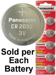 panasonic cr2032 3 volt lithium coin battery on tear strip