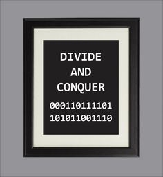 Items Similar To Divide And Conquer Digital Art Print For Geeks Office Wall Decor Binary Coding Algorithms Programming Computers On Etsy