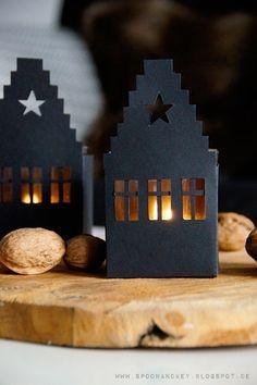 DIY WIndlicht Haus mit Vorlage zum Download spoon and key