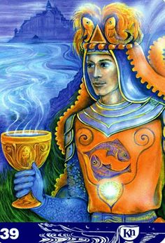 Albumarchiv - New Aura Soma Tarot Knight Of Cups, Cup Art, Hero's Journey, Palmistry, Oracle Cards, Tarot Decks, Archetypes, Numerology, Tarot Cards