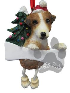 Dangling Leg Jack Russell Terrier Dog Christmas Ornament http://doggystylegifts.com/products/dangling-leg-jack-russell-terrier-dog-christmas-ornament