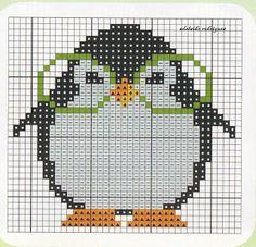 point de croix - pingouin