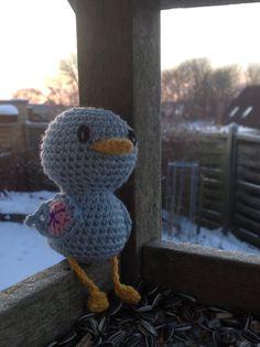 Crochet bird - hæklet fugl - hæklet dingledyr