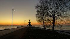 Sunset at Nallikari in Oulu