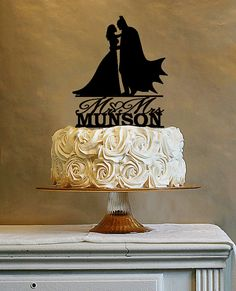 Custom Wedding Cake Topper  Wedding Cake Topper  Batman by Vanblur