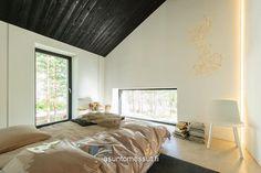 Lammi-Kivitalo Maja - Makuuhuone Red Brick Walls, Wooden Houses, Red Bricks, Dream Bedroom, Interior Ideas, My Dream, Gray Color, Furniture, Home Decor
