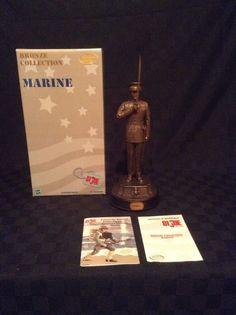 NIB Hasbro Rare GI Joe Marine Bronze Collection Statue # 40075 #Hasbro