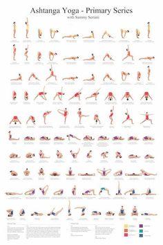 2436 Ashtanga Yoga Primary Series with Sammy Seriani. This poster illustrates t