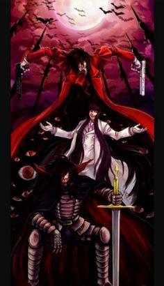 Alucard, Girlycard e Dracula Hakushaku (Vlad Tepes, Vlad III: O Empalador ou só Dracula) Anime Manga, Anime Art, Anime Guys, Hellsing Ultimate Anime, Hellsing Alucard, Animes Wallpapers, Iphone Wallpapers, Hd Wallpaper, Dracula
