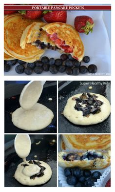 Portable Pancake Pockets let you enjoy breakfast on the go. http://www.superhealthykids.com/portable-pancake-pockets/