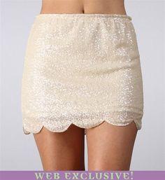 #Windsor                  #Skirt                    #Ivory #Scallop #Sequin #Skirt                      Ivory Scallop Hem Sequin Skirt                                                http://www.seapai.com/product.aspx?PID=1733943