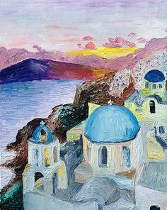 "Somewhere in the Medditerranean 16"" x 20"" oil on canvas"