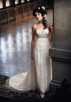 Hmmm, is THIS the dress for our vow renewal in two years?  I think it's a top contender...
