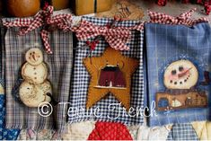 Homespun Snowmen by Terrye French, Painting with Friends by PaintingWithFriends on Etsy