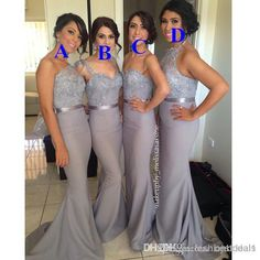 Wholesale Lace Bridesmaid Dresses - Buy Grey Convertible Bridesmaid Dresses 2015 Sexy Mixed Styles Lace Chiffon Dresses For Maid of Honor Custom Made Evening Gowns Long Prom Dress, $85.9   DHgate.com