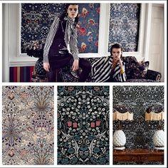 House of Hackney goes William Morris at Engelska Tapetmagasinet online. Tapet Wallpaper