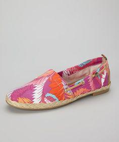 Another great find on #zulily! Fuchsia Palm Feriel Slip-On Shoe #zulilyfinds