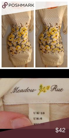 ANTHROPOLOGIE Meadow Rue DRESS Peppered Plena In gentle pre-owned condition Anthropologie Dresses