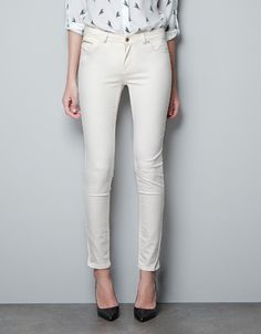 SUPER STRETCH SKINNY PANTS - Trousers - Woman - ZARA Saudi Arabia