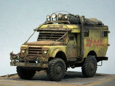 Post-apocalyptic DHL truck (model).