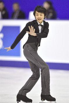 昨年末の全日本選手権で11位になった14歳の島田高志郎=札幌市