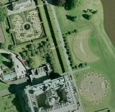 Longleat Mazes - really liking the moon shaped labyrinth.