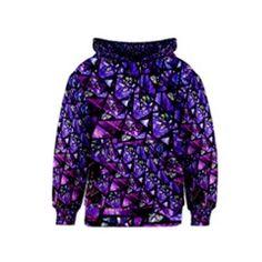 Blue purple Glass Kid s Pullover Hoodie by KirstenStarFashion