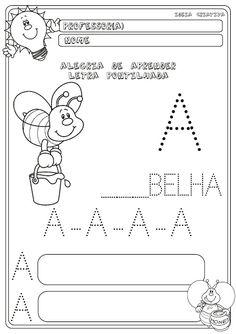 Atividade Letra Pontilhada | Ideia Criativa - Gi Barbosa Educação Infantil