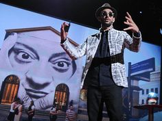 JR, a semi-anonymous French street artist, uses his camera to show the world its true face, by pasting photos of the human face across massive canvases. At TED2011, he makes his audacious TED Prize wish: to use art to turn the world inside out. Learn more about his work and learn how you can join in at insideoutproject.net.