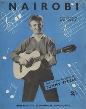 TOMMY STEELE - 50s Sheet music - NAIROBI