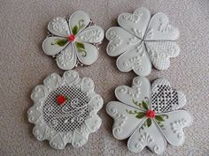 Lace Cookies, Mini Cookies, Best Sugar Cookies, Colorful Cakes, Cookie Desserts, Paper Quilling, Decorated Cookies, Royal Icing, Cross Stitch Designs