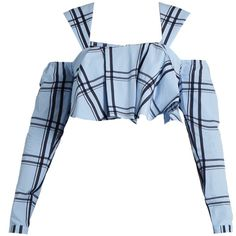House of Holland Ruffled checked-cotton cropped top Look Fashion, Korean Fashion, Girl Fashion, Classy Outfits, Cool Outfits, Casual Outfits, Kpop Fashion Outfits, Stage Outfits, Cropped White Shirt