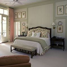Wood Wall Treatments | Master Bedroom Decorating Ideas - Southern Living