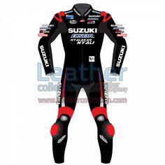 MAVERICK VINALES SUZUKI MOTOGP 2016 LEATHER SUIT for $719.20 - https://www.leathercollection.com/en-we/maverick-vinales-suzuki-motogp-2016-leather-suit.html