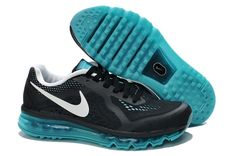 check out 3481c 428f7 Black Green White Nike Air Max 2014 Mens Shoes Running Nike, Free Running  Shoes,