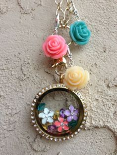 Flower charms $5. Flower dangles $6