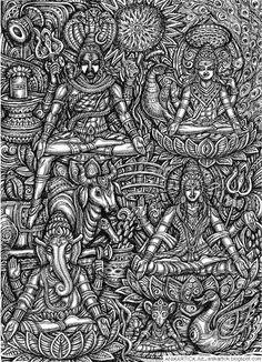 Image result for sivalingam tamil vilakkam Shiva Wallpaper, Drawing Wallpaper, Complex Art, Indian Artwork, Ganesha Art, Krishna Painting, Shiva Shakti, Hindu Deities, God Pictures