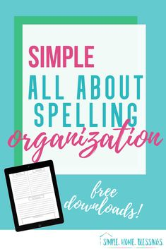 simple tips for organizing All About Spelling with free downloadable spelling sheets to make it even easier to teach spelling