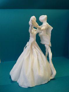 Táncospár- drót és krepp papír Statue, Sculptures, Sculpture