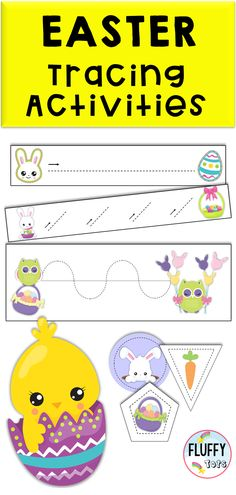 Easter Tracing for Preschool Pre Writing, Writing Skills, Preschool Centers, Groundhog Day, Simple Lines, Fine Motor Skills, Easter Ideas, Little Ones, Bunnies