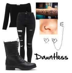Tenue, Divergent Dauntless, Le Style Dauntless, Épaule Chemises, Écoles,  Topshop, Shirts Ripped, Featuring Whistles, Holding