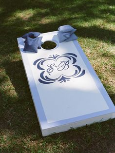 Wedding corn hole for the reception!