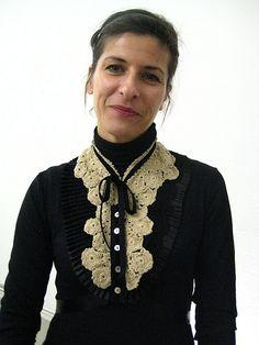 DIY victorian lace collar idea. no pattern :(