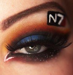 Geeky eye makeup