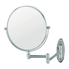 Hotel guests will love this wall-mounted mirror from Conair. It's easy to mount and features a standard view as well as 5x magnification. And with the ability to adjust to any angle, guests will have no problem checking their appearance before leaving the room!