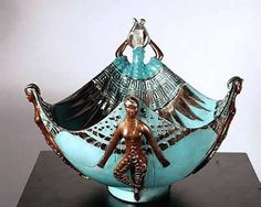 Apollo Bowl Original Art by Erte Art Nouveau, Erte Art, Romain De Tirtoff, Art Deco Artists, Historical Artifacts, Art Deco Period, Auction Items, Art Deco Fashion, Modern Fashion