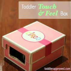 Simple to make touch and feel box. Great activity to learn new vocabulary and practice describing things.