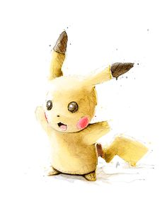 New Zealand artist Jeremy Kyle's watercolor Pokemon illustrations took 251 hours to complete - Pikachu (10 pictures)