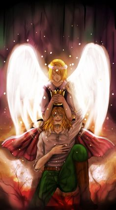 Hetalia: The King [Poland Independence Day 2014] by wasipol.deviantart.com on @deviantART - Feliks and his Nyotalia counterpart