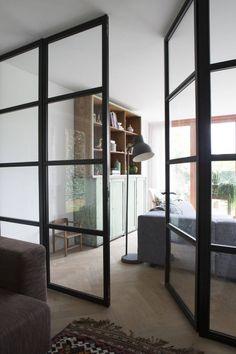 stalen binnendeuren : Moderne ramen & deuren van Boks architectuur